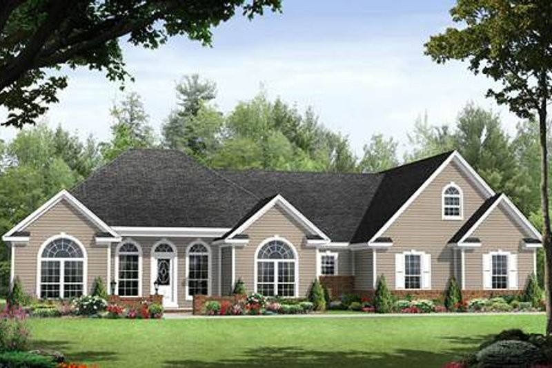Traditional Exterior - Front Elevation Plan #21-251