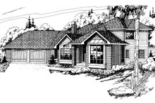House Plan Design - Ranch Exterior - Front Elevation Plan #124-129