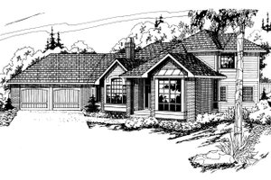 Ranch Exterior - Front Elevation Plan #124-129
