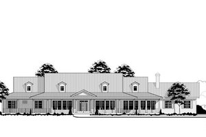 Country Exterior - Front Elevation Plan #67-871