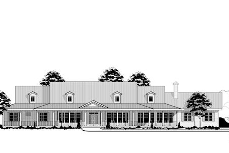 Country Style House Plan - 7 Beds 6 Baths 6888 Sq/Ft Plan #67-871 Exterior - Front Elevation