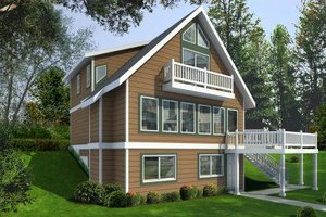 Exterior - Front Elevation Plan #100-454