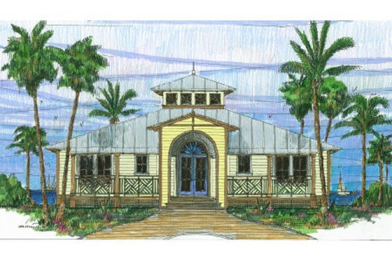 Beach Exterior - Front Elevation Plan #426-7