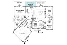 European Floor Plan - Main Floor Plan Plan #119-427