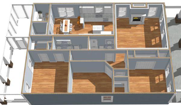 Craftsman Floor Plan - Other Floor Plan #44-232