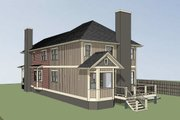 Cottage Style House Plan - 3 Beds 2 Baths 2535 Sq/Ft Plan #79-251 Exterior - Rear Elevation