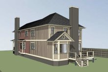 Dream House Plan - Cottage Exterior - Rear Elevation Plan #79-251