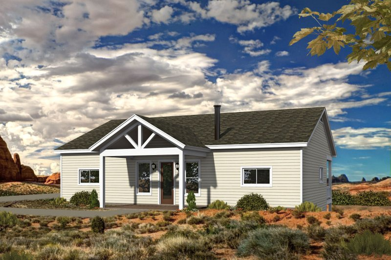 Country Style House Plan - 2 Beds 2 Baths 1500 Sq/Ft Plan #932-347