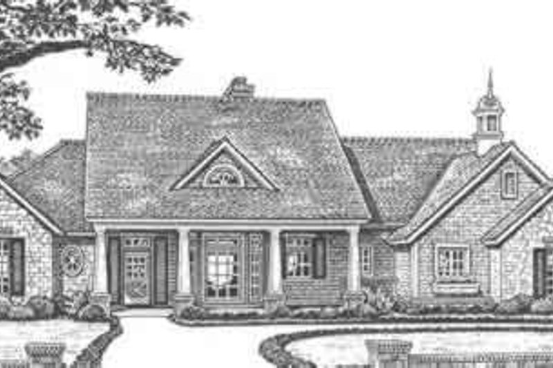 Country Style House Plan - 3 Beds 2.5 Baths 1892 Sq/Ft Plan #310-417 Exterior - Front Elevation