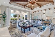 Mediterranean Style House Plan - 3 Beds 3.5 Baths 3700 Sq/Ft Plan #930-511 Interior - Family Room
