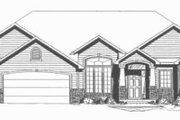 Ranch Style House Plan - 3 Beds 2 Baths 1764 Sq/Ft Plan #58-198 Exterior - Other Elevation