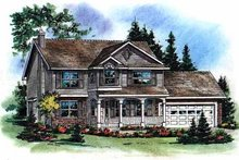 Home Plan - Farmhouse Exterior - Front Elevation Plan #18-268