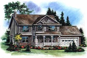 Home Plan Design - Farmhouse Exterior - Front Elevation Plan #18-268