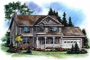 House Plan Design - Farmhouse Exterior - Front Elevation Plan #18-268