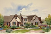 Country Style House Plan - 3 Beds 2.5 Baths 3559 Sq/Ft Plan #901-104 Exterior - Front Elevation