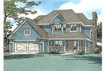 Traditional Exterior - Front Elevation Plan #20-275