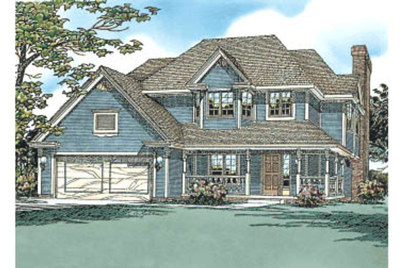 Traditional Exterior - Front Elevation Plan #20-275 - Houseplans.com