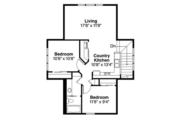 Country Floor Plan - Upper Floor Plan Plan #124-944