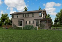 Architectural House Design - Contemporary Exterior - Other Elevation Plan #48-1020