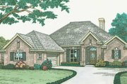 European Style House Plan - 3 Beds 2 Baths 1834 Sq/Ft Plan #310-580 Exterior - Front Elevation