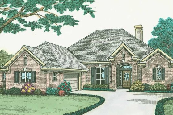 European Exterior - Front Elevation Plan #310-580