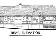 Ranch Style House Plan - 3 Beds 2 Baths 2023 Sq/Ft Plan #18-115 Exterior - Rear Elevation