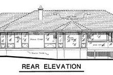 Ranch Exterior - Rear Elevation Plan #18-115