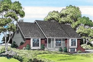 Ranch Exterior - Front Elevation Plan #312-293