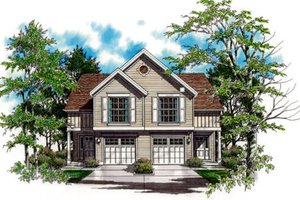 Traditional Exterior - Front Elevation Plan #48-153