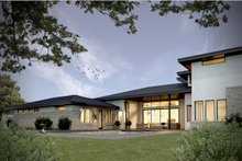 Architectural House Design - Contemporary Exterior - Rear Elevation Plan #935-14