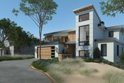 Contemporary Style House Plan - 4 Beds 4.5 Baths 4159 Sq/Ft Plan #928-352 Exterior - Front Elevation
