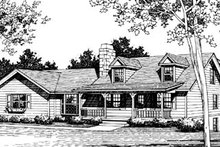 Country Exterior - Front Elevation Plan #10-240