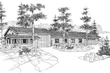 House Plan Design - Ranch Exterior - Front Elevation Plan #124-793