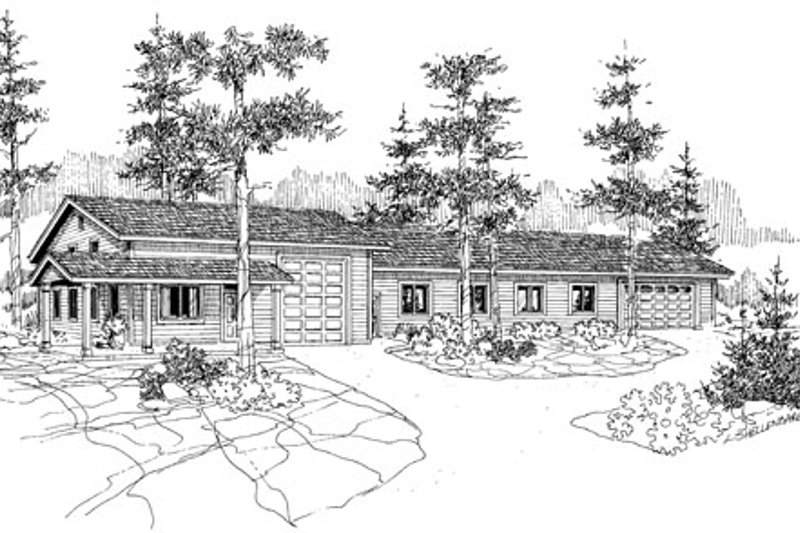 Ranch Exterior - Front Elevation Plan #124-793
