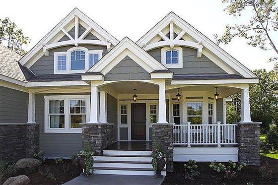 Craftsman Exterior - Front Elevation Plan #132-230
