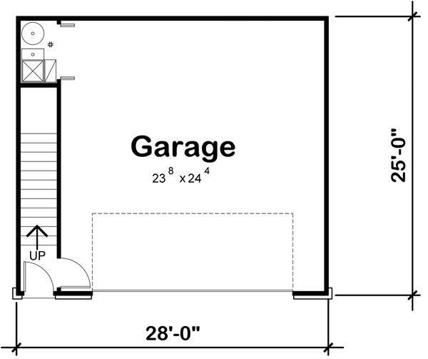 Traditional Floor Plan - Main Floor Plan Plan #20-2308
