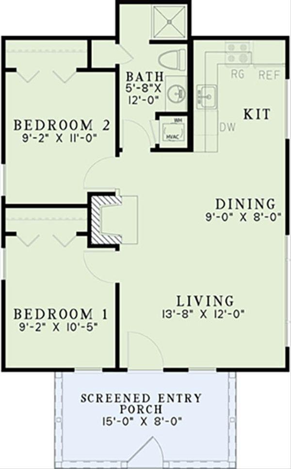 Country Floor Plan - Main Floor Plan Plan #17-2605