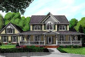 Farmhouse Exterior - Front Elevation Plan #11-211