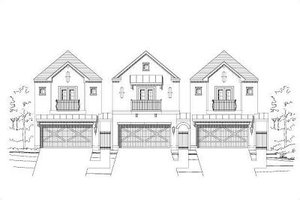 European Exterior - Front Elevation Plan #411-692