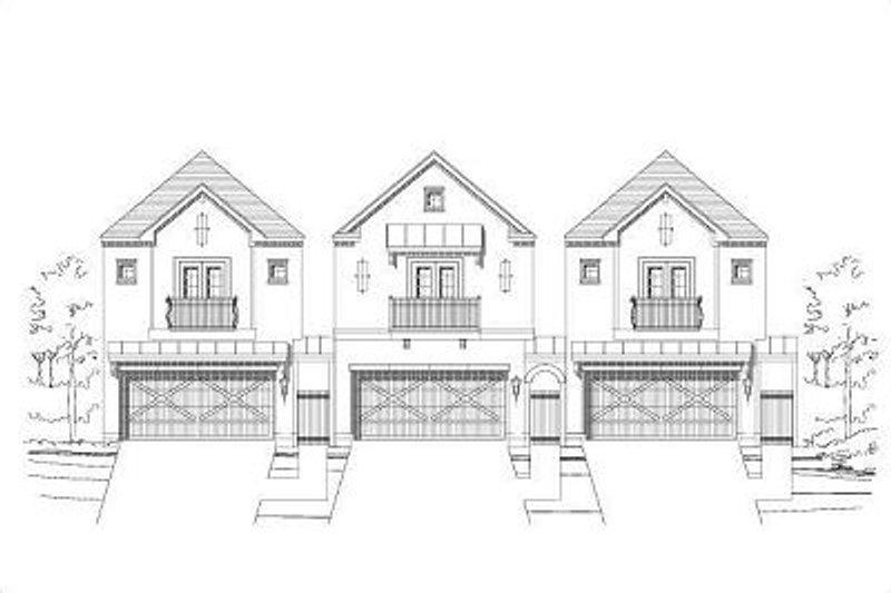 European Style House Plan - 3 Beds 2.5 Baths 2607 Sq/Ft Plan #411-692