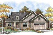 Traditional Style House Plan - 2 Beds 2.5 Baths 1354 Sq/Ft Plan #70-896 Exterior - Front Elevation