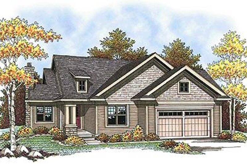 Traditional Style House Plan - 2 Beds 2.5 Baths 1354 Sq/Ft Plan #70-896
