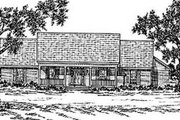 Country Style House Plan - 3 Beds 2.5 Baths 2010 Sq/Ft Plan #36-182 Exterior - Front Elevation