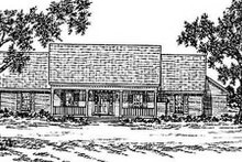 Home Plan Design - Country Exterior - Front Elevation Plan #36-182
