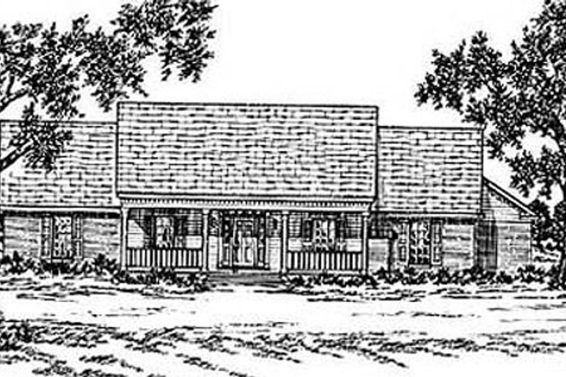 Architectural House Design - Country Exterior - Front Elevation Plan #36-182