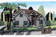 Contemporary Style House Plan - 3 Beds 2.5 Baths 2628 Sq/Ft Plan #312-152 Exterior - Front Elevation