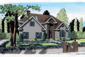 Contemporary Exterior - Front Elevation Plan #312-152