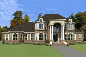 Colonial Exterior - Front Elevation Plan #63-411