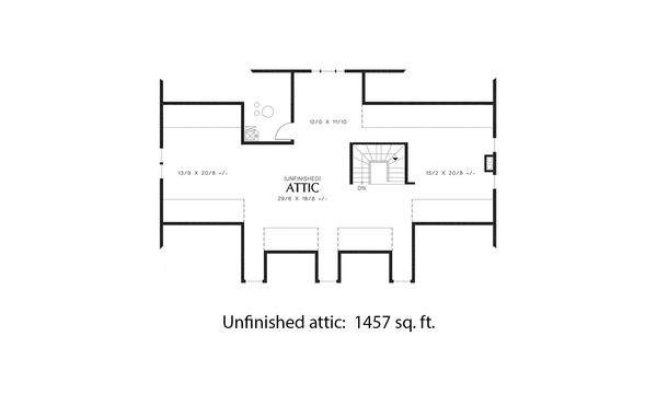 Colonial Floor Plan - Other Floor Plan Plan #48-663