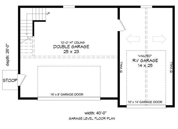 Country Floor Plan - Main Floor Plan #932-198